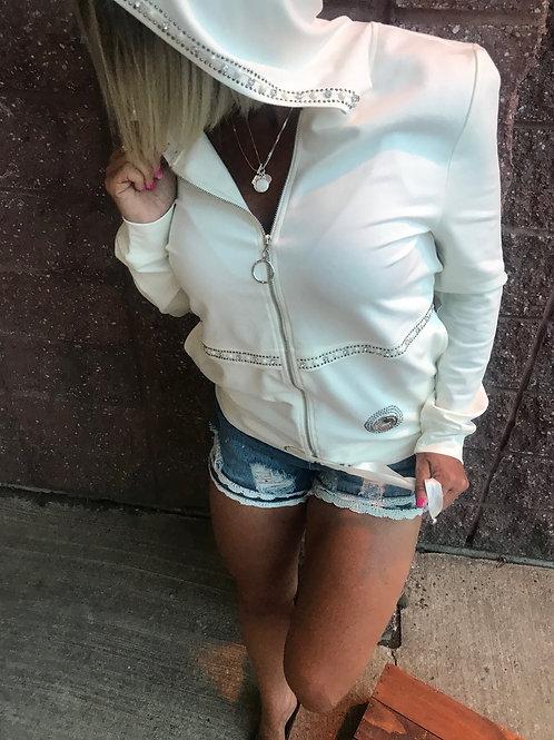 Veste ivoire avec gemmes Lulu Love