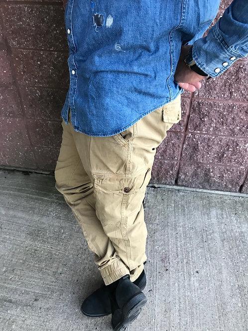 Pantalon cargo jaunâtre Blend