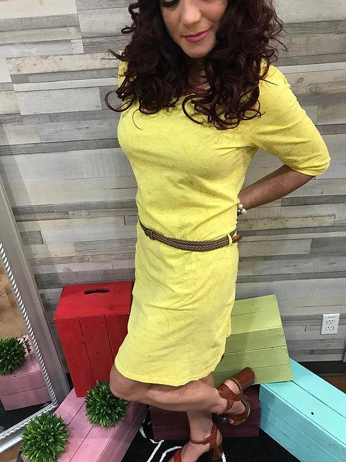 Robe jaune à motifs simples Ragwear
