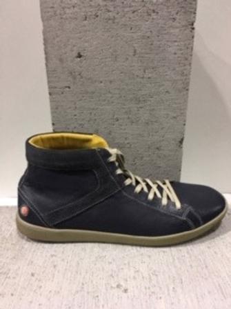 Chaussure bleue en cuir SOFTINOS