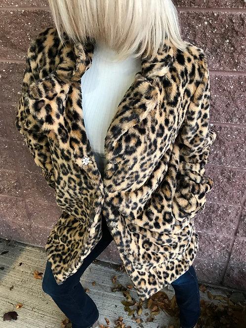 Manteau de fourrure léopard Lulu Love