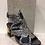 Thumbnail: Sandale noire couture multicolore Laura Vita