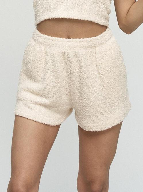 Shorts en peluche amande Kuwalla Tee