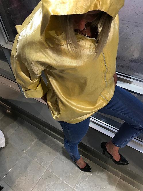 Veste jaune avec paillettes