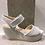 Thumbnail: Sandale grise croco SACHA LONDON