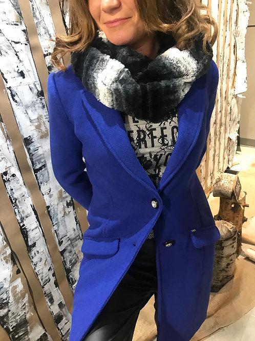 Trench-coat bleu royal Gaudi Jeans