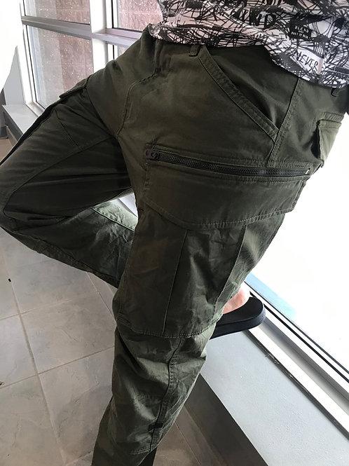 Pantalon cargo gris avec teintes de kaki G- Star