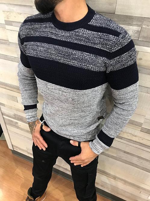 Chandail laineu gris et marine G-STAR RAW