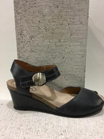 Sandale en cuir noir Taos