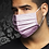 Thumbnail: Masque rose à motifs carrés Au Noir