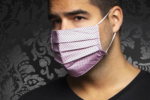 Masque rose à motifs carrés Au Noir