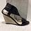 Thumbnail: Sandale en cuir vernis noir NOBLEZ