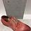 Thumbnail: Chaussure rouge en cuir délavé NOBRAND