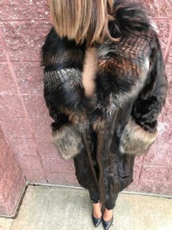 Manteau en fausse fourrure mi-long FURIOUS FUR
