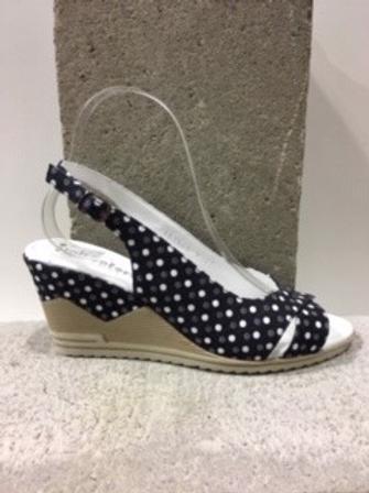 Sandale noire à pois blanc  ITALCONFORT