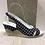 Thumbnail: Sandale noire à pois blanc  ITALCONFORT