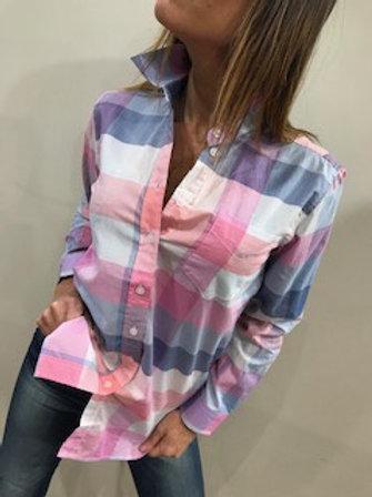 Chemise carretée rosé pastel Joules