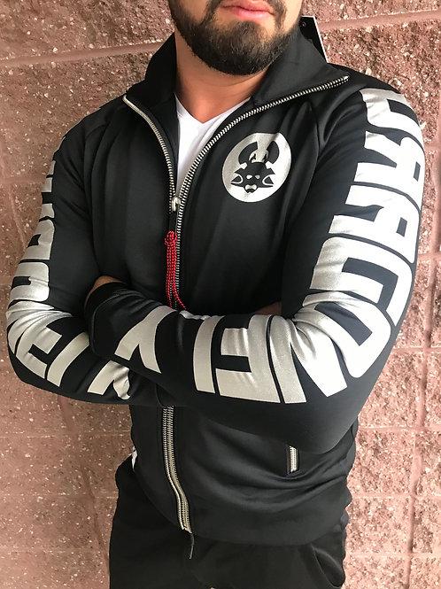 Veste noire avec texte argenté Roirraw