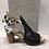 Thumbnail: Sandale noire avec talon fleuri Laura Vita