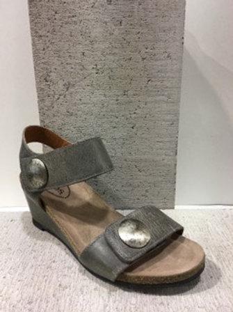 Sandale en cuir gris Taos
