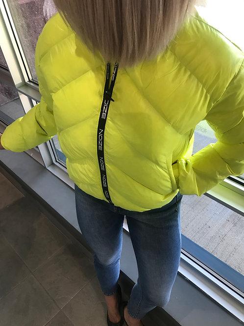 Manteau matelassé jaune néon Noize