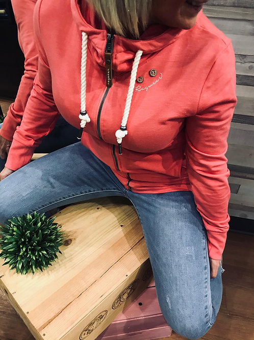 Veste rose à capuchon Ragwear style Paya