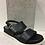 Thumbnail: Sandale sport noire semelle plateforme Boussola