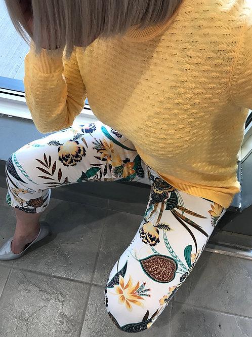 Pantalon imprimé jaune Esprit