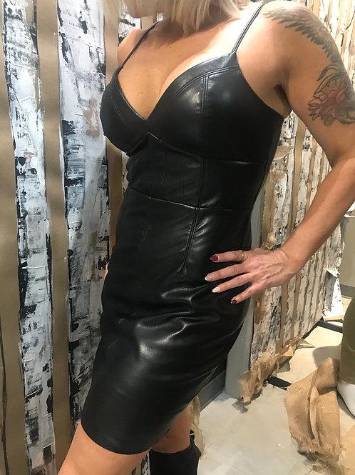 Robe noire en cuir Guess