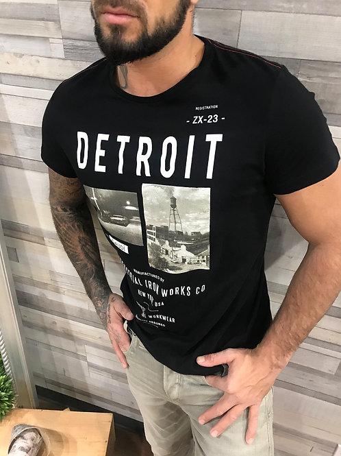 T-shirt noir imprimé ''Detroit'' Gaudi