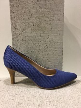 Escarpin bleu style fripé Piccadilly