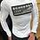 Thumbnail: Chandail blanc brodé kaki  manches longues  Black Karv