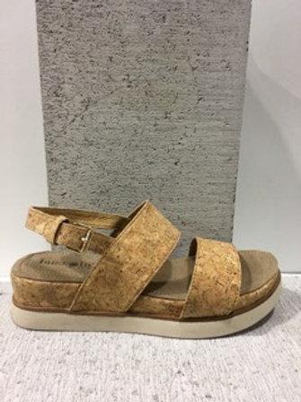 Sandale sport style liège semelle plateforme Boussola