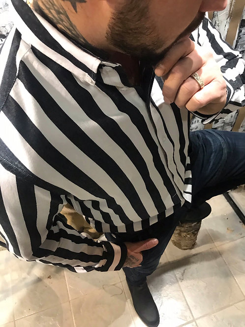 Chemise rayée noire et blanche Casual Friday