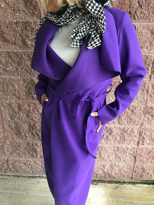Trench-coat violet Bella Amore