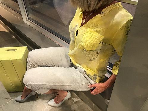 Pantalon blanc décontracté