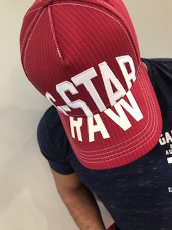 Casquette homme rouge brodée blanc  G-StarRaw