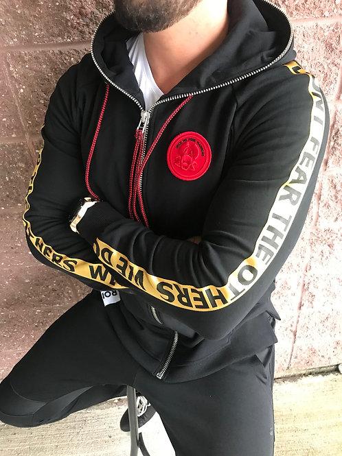 Veste noire avec capuchon Roirraw