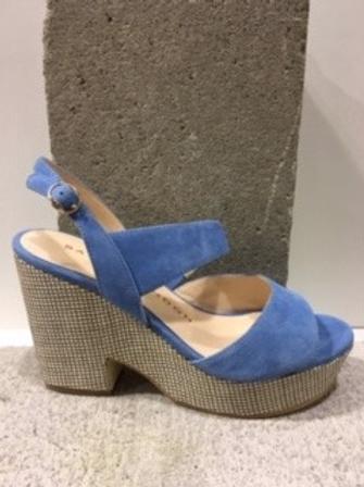 Sandale bleue en micro suède  SACHA LONDON