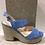 Thumbnail: Sandale bleue en micro suède  SACHA LONDON