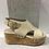 Thumbnail: Sandale beige à talon compensé en liège Boussola