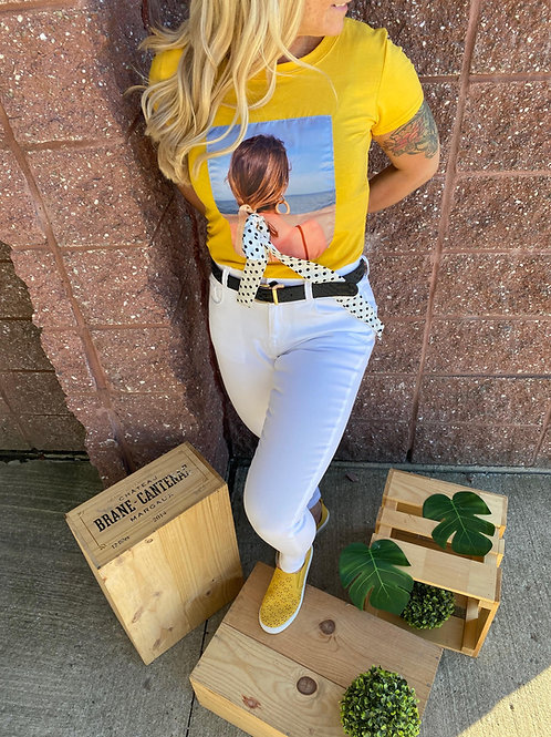 T-shirt jaune estival