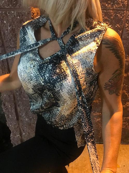 Camisole à motif peau de serpent
