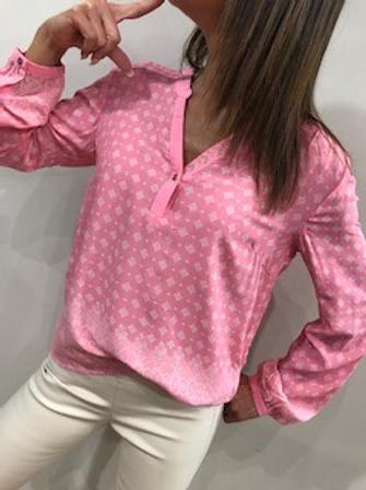 Blousette rose avec motifs blancs  Cream
