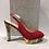 Thumbnail: Sandale en suède rouge semelle multicolore Sacha London