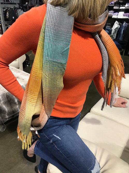 Foulard en laine multicolore avec paillettes Nana