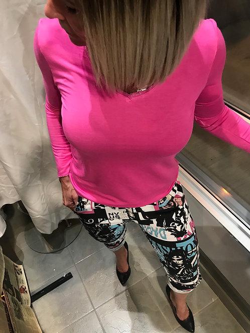 Pantalon décontracté à motifs Michelle