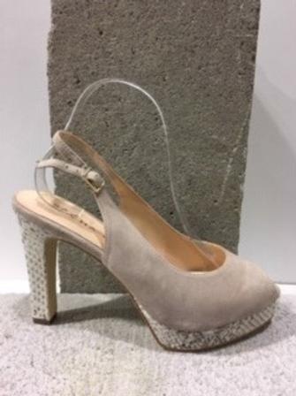 Sandale beige en micro suède  SACHA LONDON