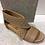 Thumbnail: Sandale beige en cuir BOUSSOLA