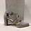 Thumbnail: Sandale en suède gris à lanières croisées Perlato